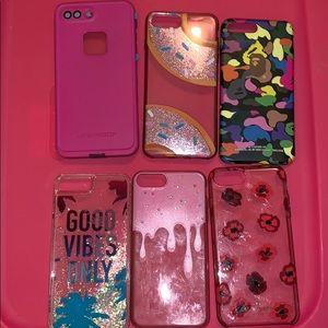iPhone 7/8 plus cases ($7 EACH)